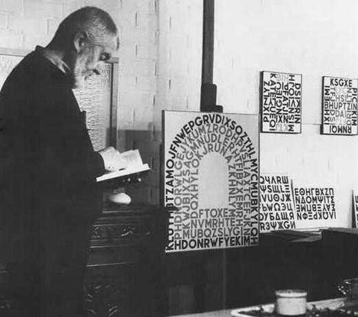 Gaston De Mey in atelier