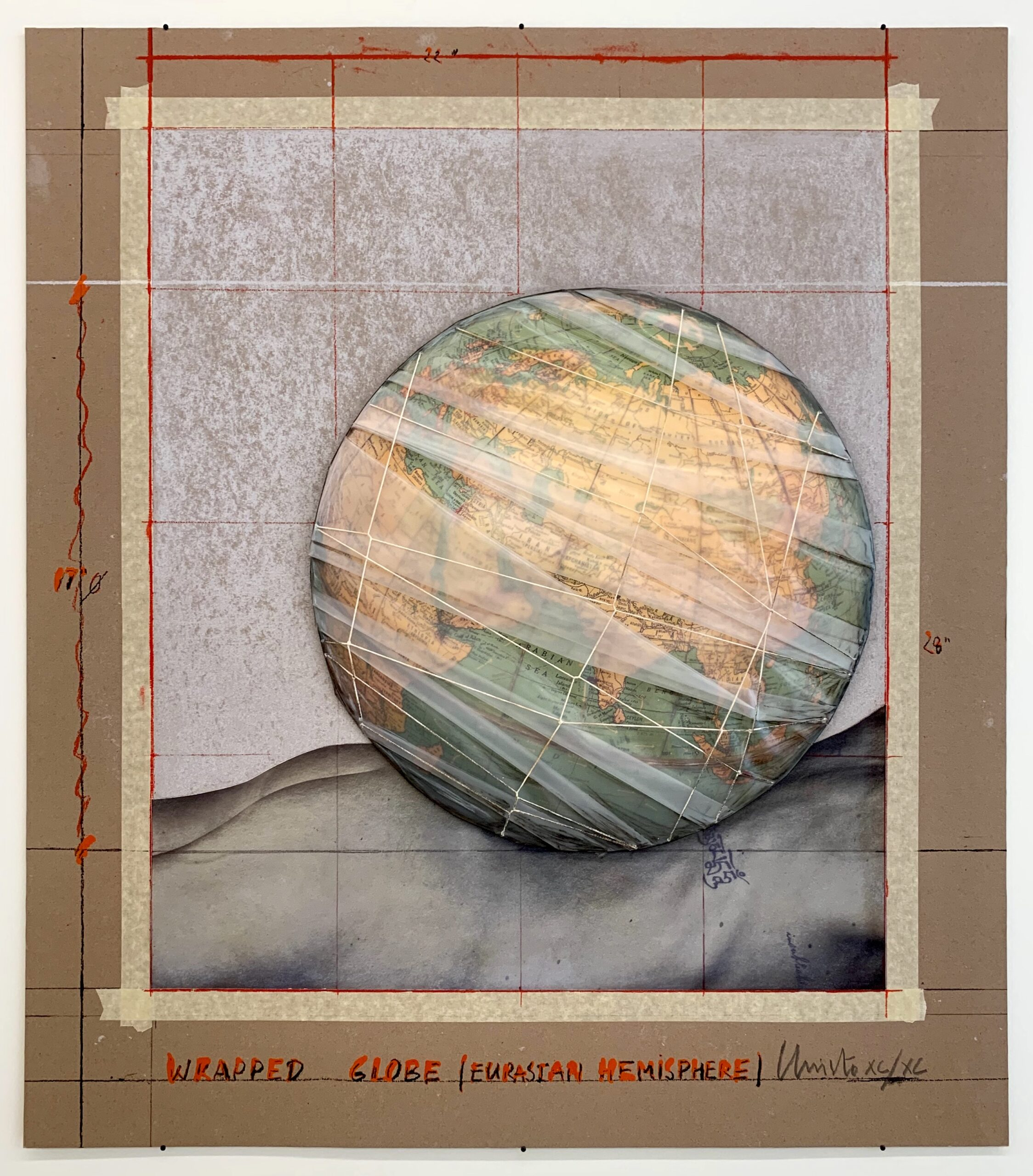 Christo, Wrapped Globe, 2019