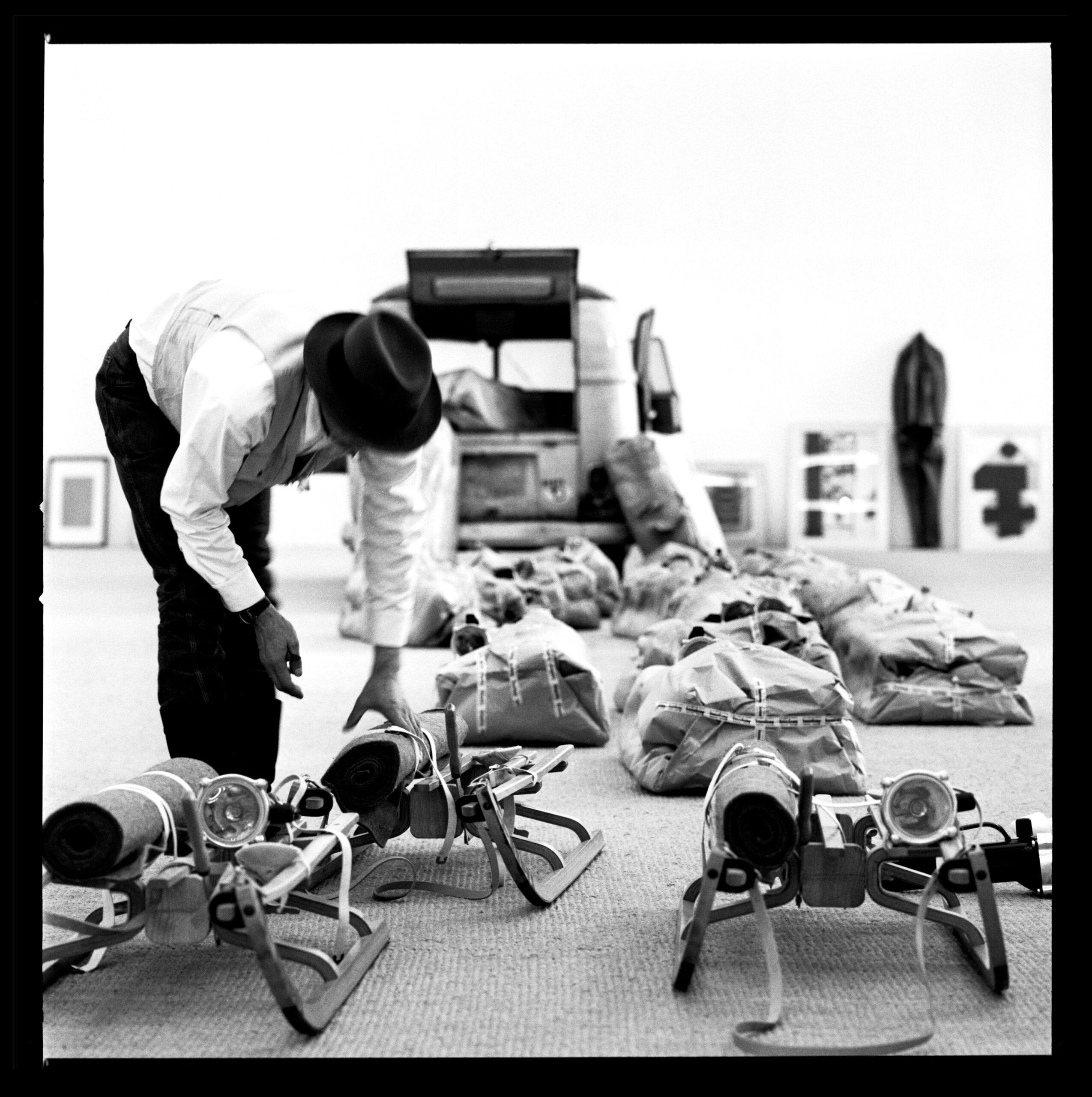 Beuys in Moderna Museet, Stockholm 1971