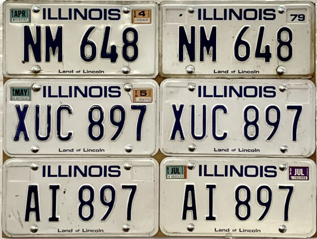 Jan Henderikse - License plates on panel, 2012.