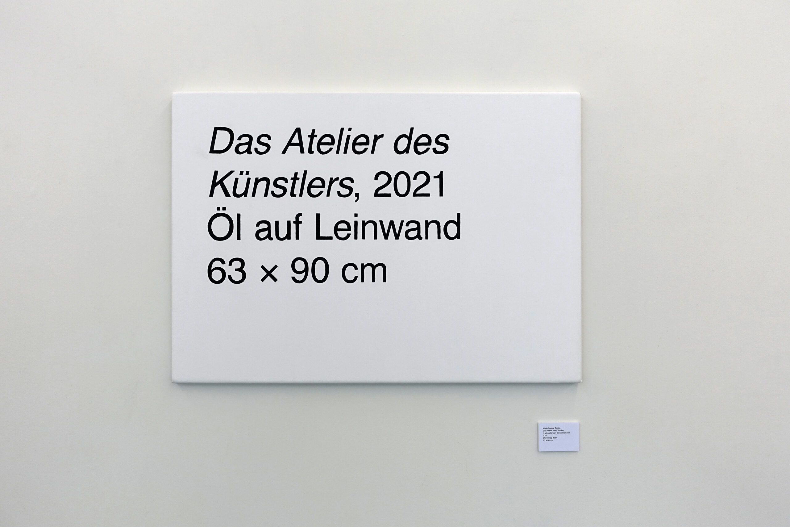 Marie-Sophie Beinke - Das Atelier des Künstlers (The Artist's Studio), 2021 Oil on canvas, digital print on paper and foam board 78.3 × 90 cm
