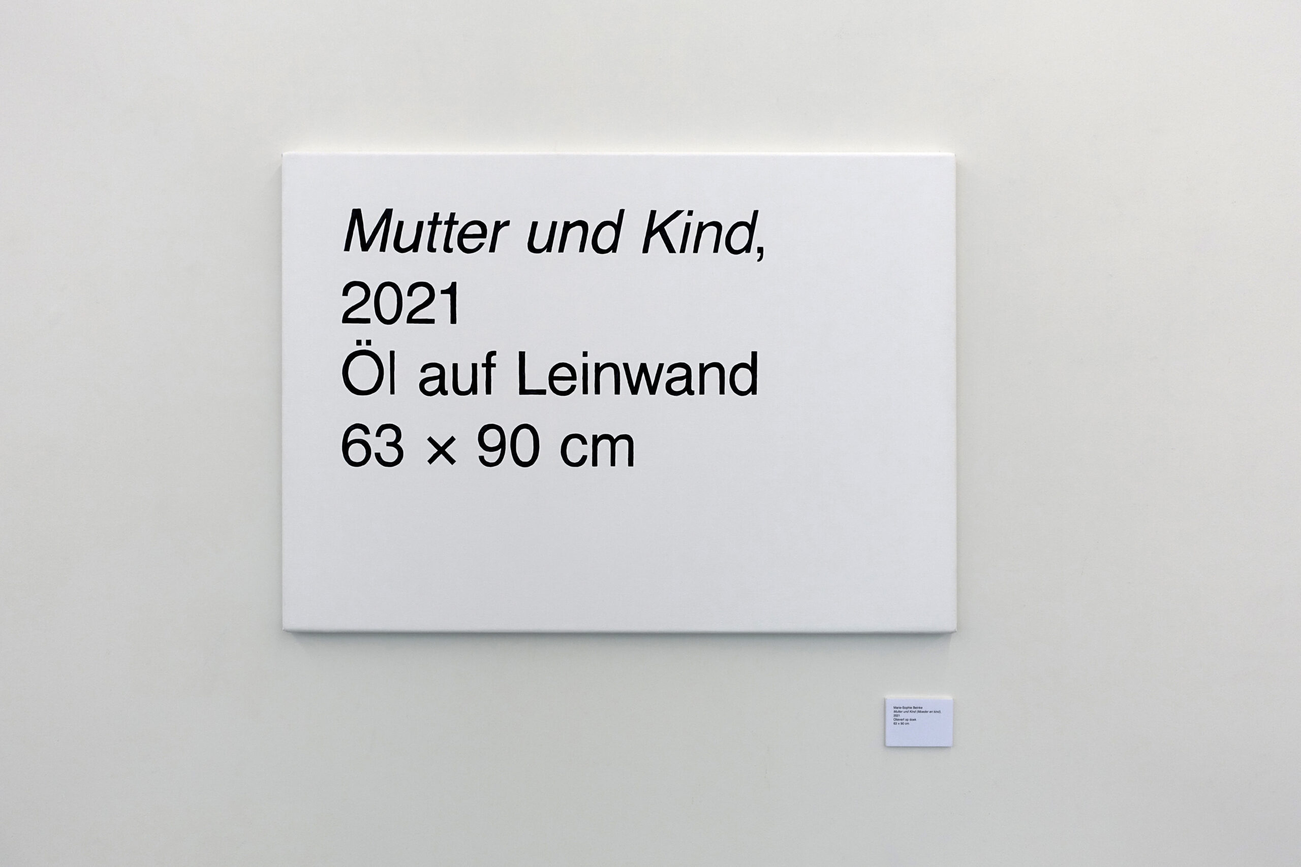 Marie- Sophie Beinke - Mutter und Kind (Mother and Child), 2021 Oil on canvas, digital print on paper and foam board 78,3 x 90 cm