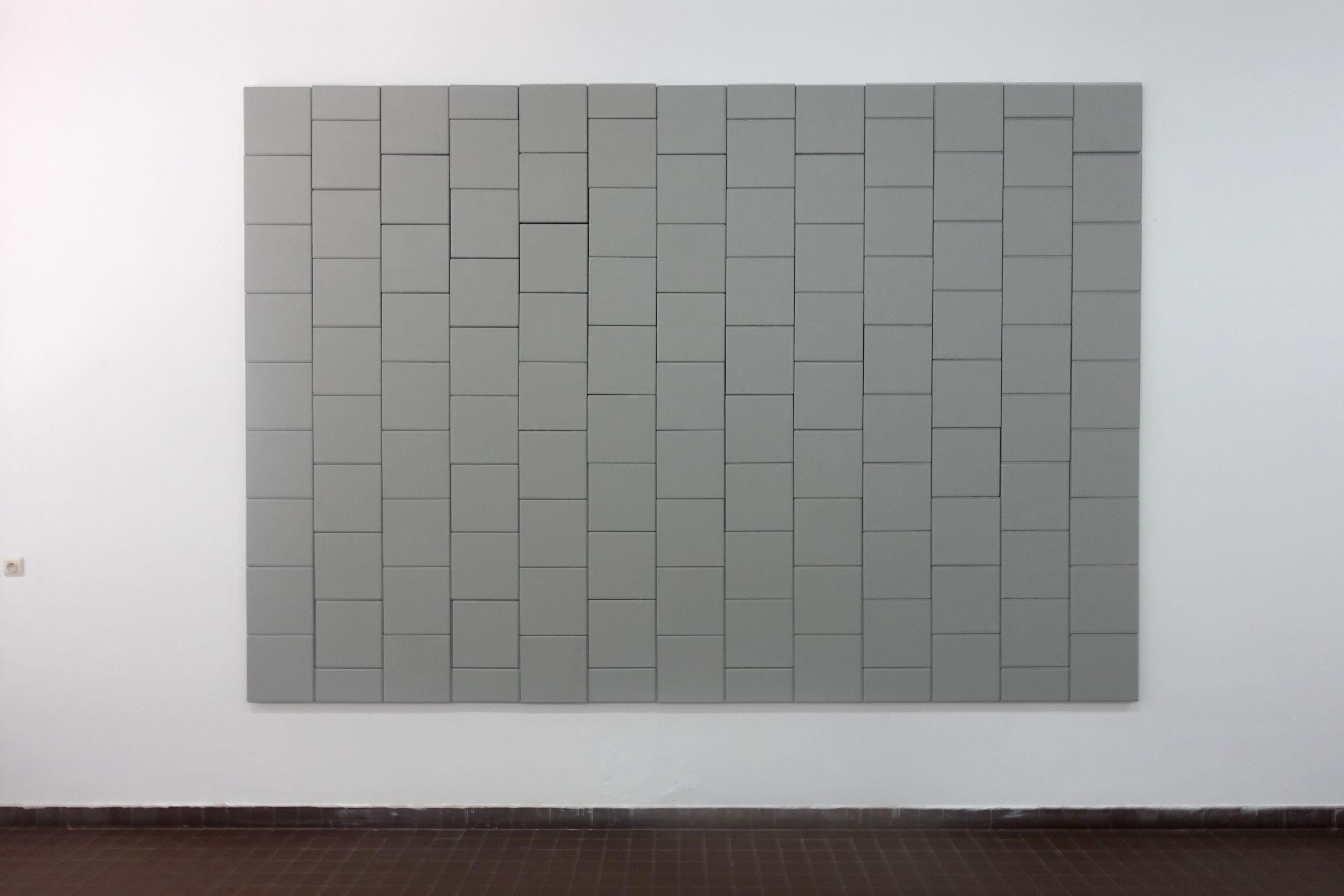 Marie-Sophie Beinke - Gehweg (Sidewalk), 2021 Acrylic on canvas and MDF 264 x 383 cm